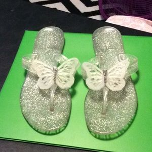 Coach Pasarella size 7.  Jelly butterfly sandals